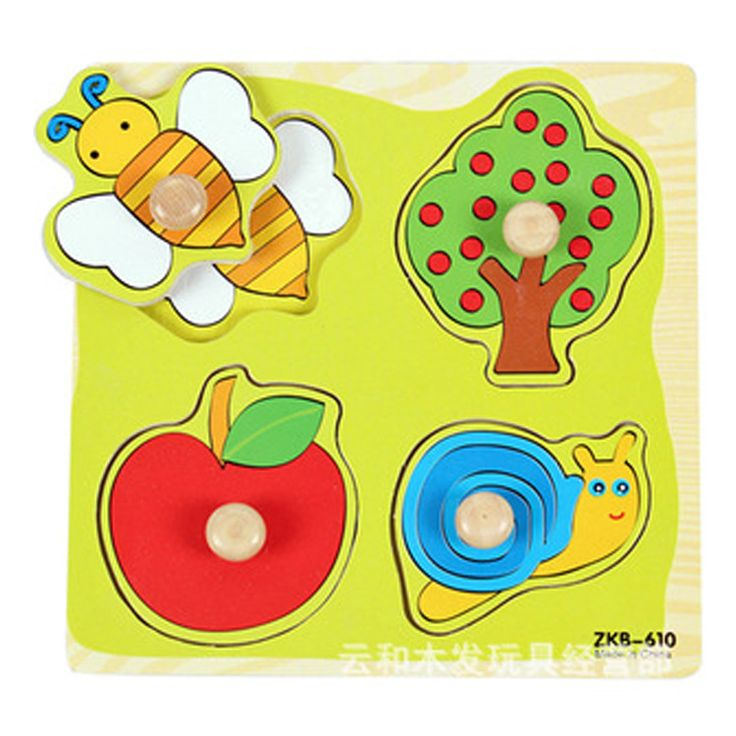 cartoon animal baby jigsaw Board wood puzzles 2-5 years old child wooden Kids toys puzzle Educational Learning toys W102
