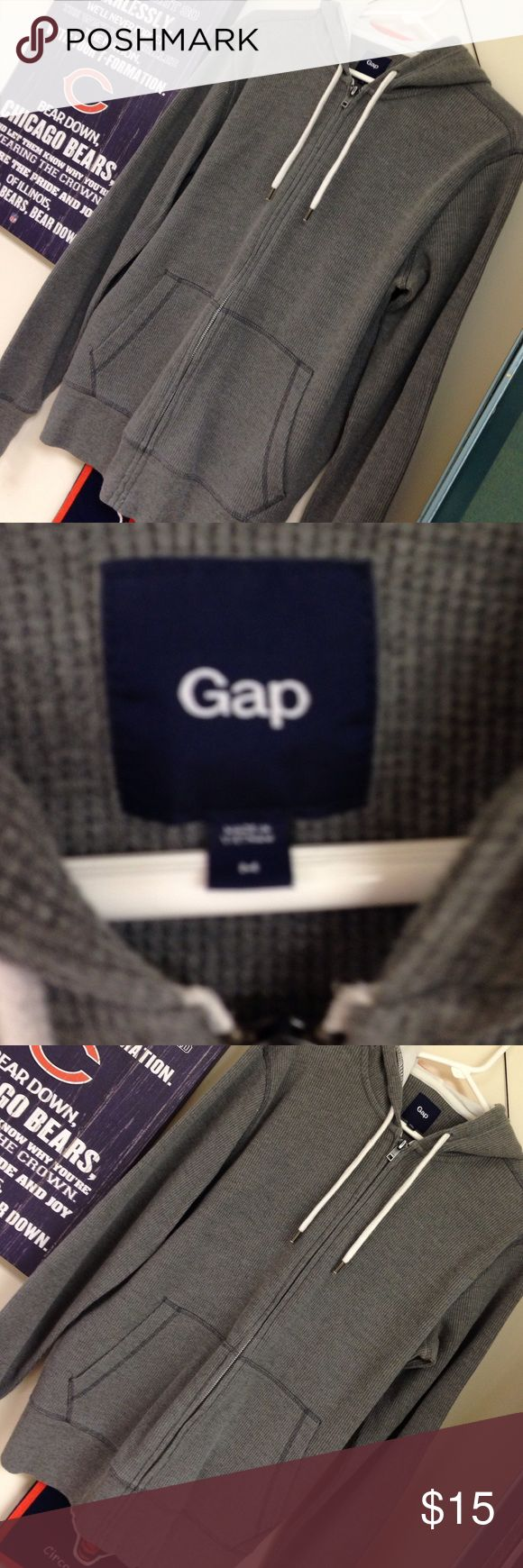 Gap men's hoodie zip up Gap men's thermal zip up hoodie. Like new condition. Worn only a couple of times. GAP Jackets & Coats Lightweight & Shirt Jackets