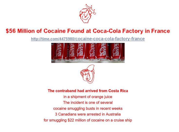 $56 Million of Cocaine Found at Coca-Cola Factory in France http://time.com/4475980/cocaine-coca-cola-factory-france