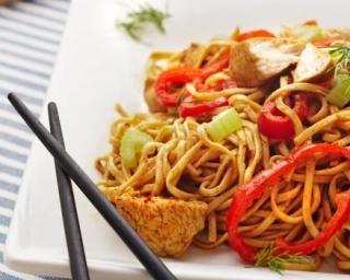 Nouilles chinoises aux légumes : http://www.fourchette-et-bikini.fr/recettes/recettes-minceur/nouilles-chinoises-vegetaliennes-aux-legumes.html