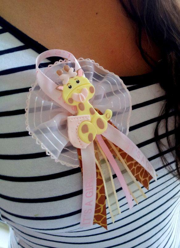 wear ideas jungle baby baby giraffe pins corsage shower baby shower