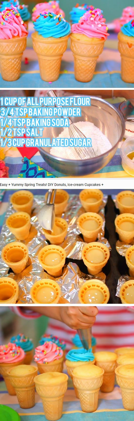 Ice Cream Cupcakes | DIY Spring Treats for School Kids | Easy Easter Dessert Ideas for Kids to Make