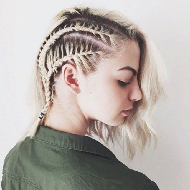 Stupendous 1000 Ideas About Braid Short Hair On Pinterest Highlighted Hair Hairstyle Inspiration Daily Dogsangcom