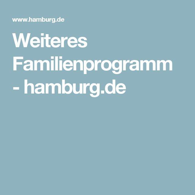 Weiteres Familienprogramm - hamburg.de