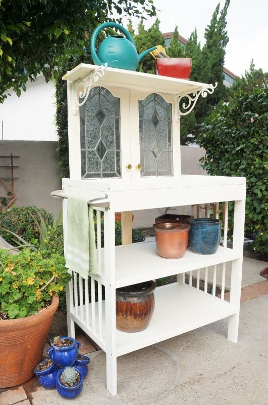 Repurposed Changing Table To Potting Bench Made With Old
