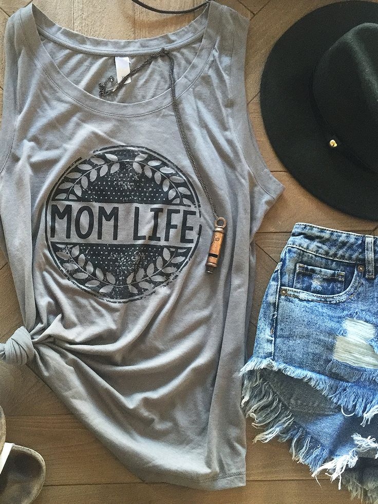 Mom Life Muscle Tank