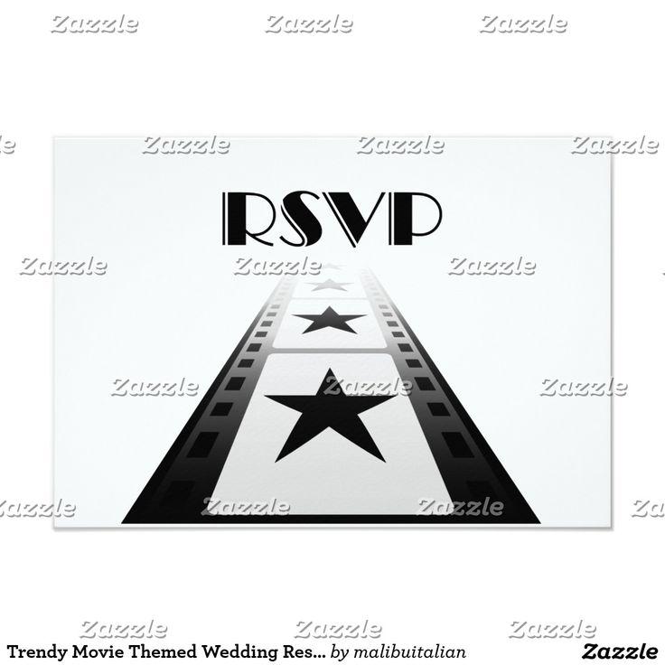 Trendy Movie Themed Wedding Response Card