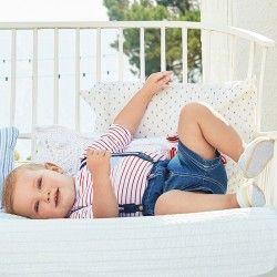 Pantalon corto vaquero bebé con tiranes