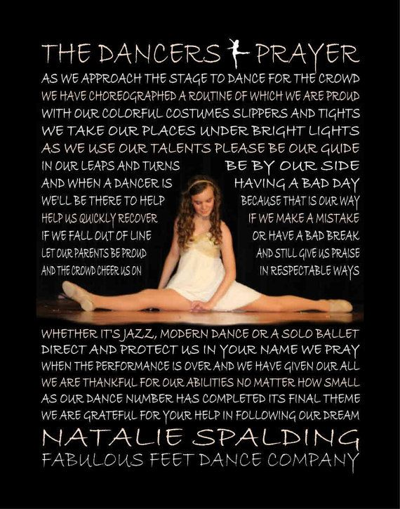 The Dancer Prayer personalized  with photo, Dancer, Dancer Poem, Dancing Print, Dancing, Dance Poster