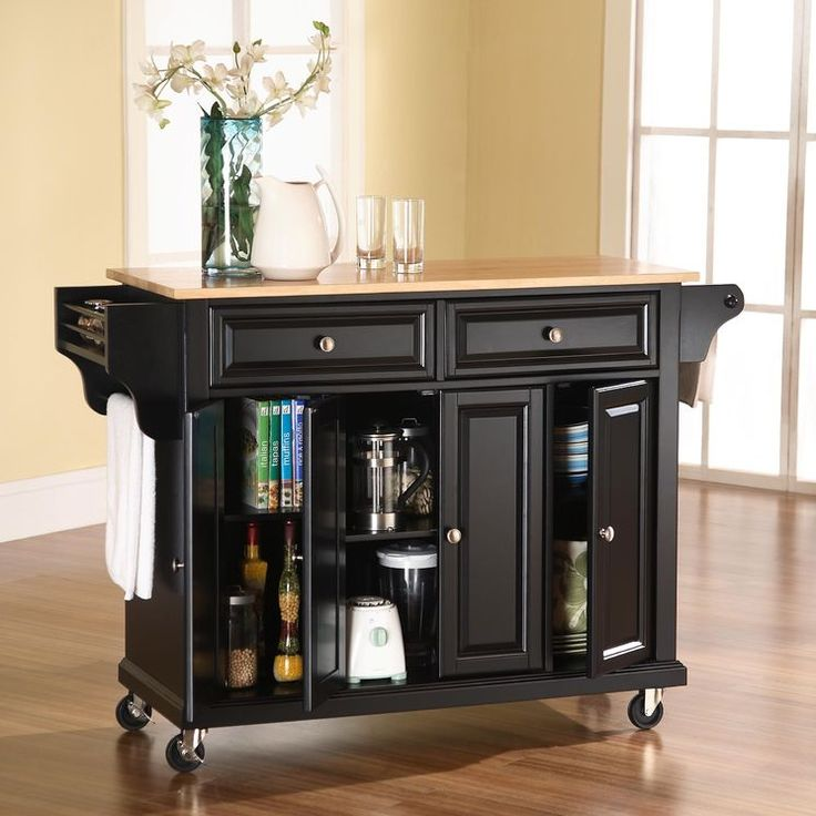 buy crosley furniture solid black granite top kitchen cartisland in black on sale online