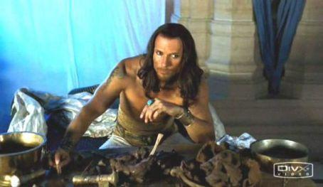 "Luke Goss as King Xerxes in ""One Night with the King"""