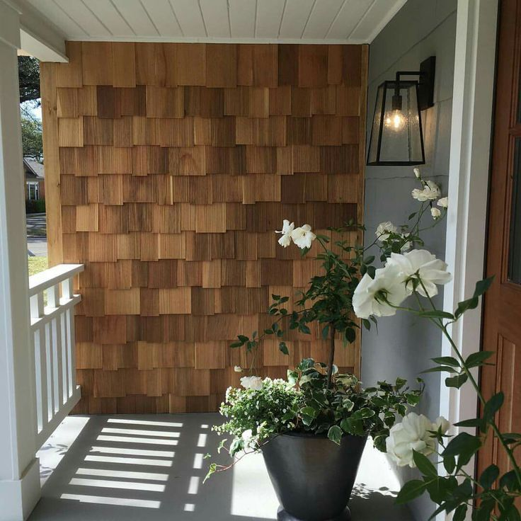 Best Cedar Shingle Accent Wall Under A Covered Front Porch 400 x 300