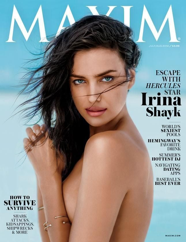 Irina Shayk - Maxim Magazine Cover [United States] (August 2014)