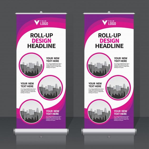 Roll Up Banner Set Roll Banner Banner Template Design Banner Design