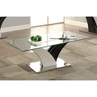 Furniture of America Bevelen Contemporary Two-Tone White/Dark Grey Coffee Table