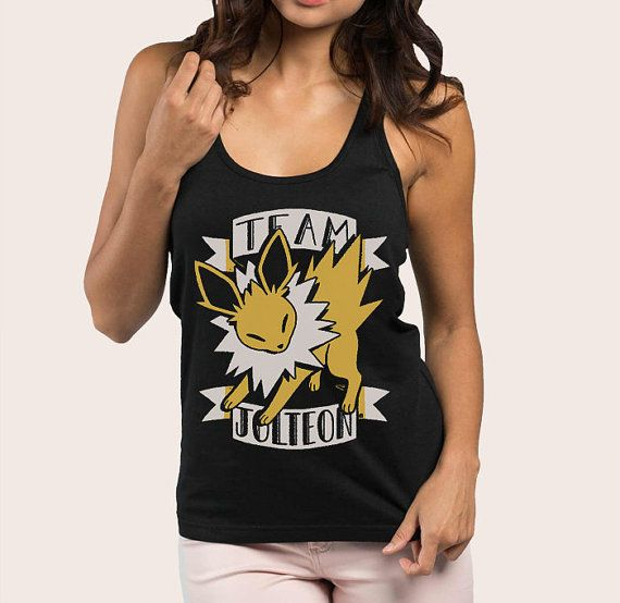 Womens Pokemon Tank Top Jolteon  Pokemon Tank Top  Pokemon