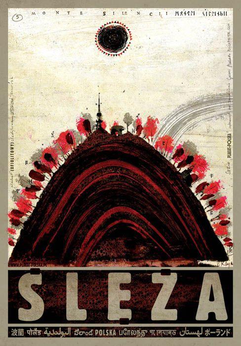 Sleza, Zobtenberg, Polish Tourist Poster