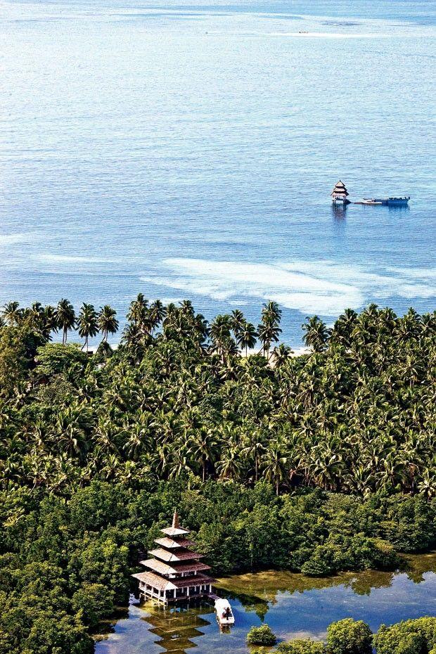Resort Dedon Island no Pacífico