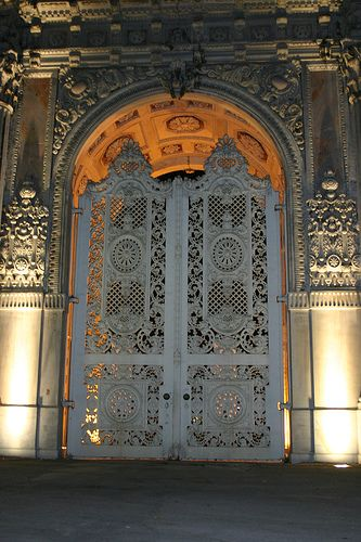 Dolmabahce Palace ISTANBUL-TURKEY  Very detailed design again - seen throughout middle eastern/far eastern architecture