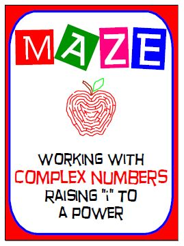 """Maze - Working with Complex Numbers - Raising i to a power from nevergiveuponmath on TeachersNotebook.com - (3 pages) - This product is a good review of checking for understanding how to """"raise 'i' to a power"""" when working with complex numbers."""