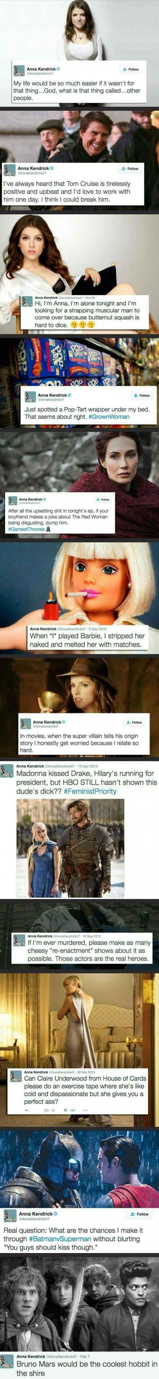 Some Favorite Anna Kendrick Tweets