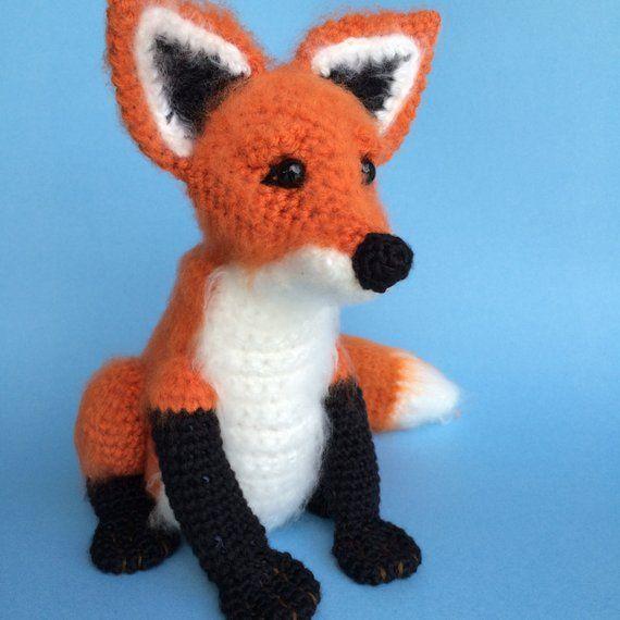 PATTERN: Red Fox - Amigurumi fox pattern - Crochet tutorial with ... | 570x570