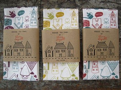 Flora Waycott Design: A selection of tea towels are available to buy from her Etsy shop