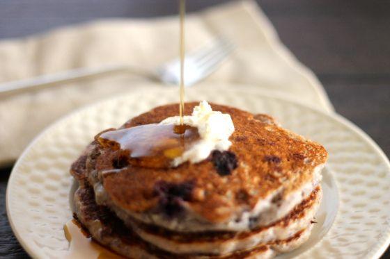 Blueberry cornmeal pancakes | Breakfast | Pinterest