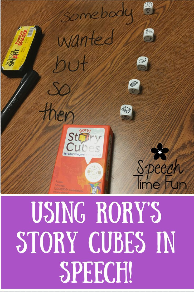 Using Rory's Story Cubes In Speech Therapy