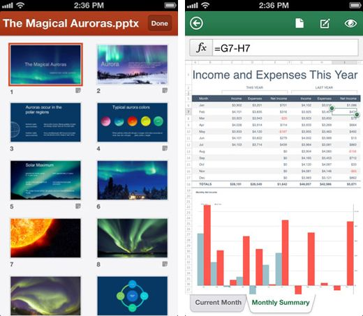 Office 365 is available for the iPhone, lets you edit any Word, Excel and PowerPoint file