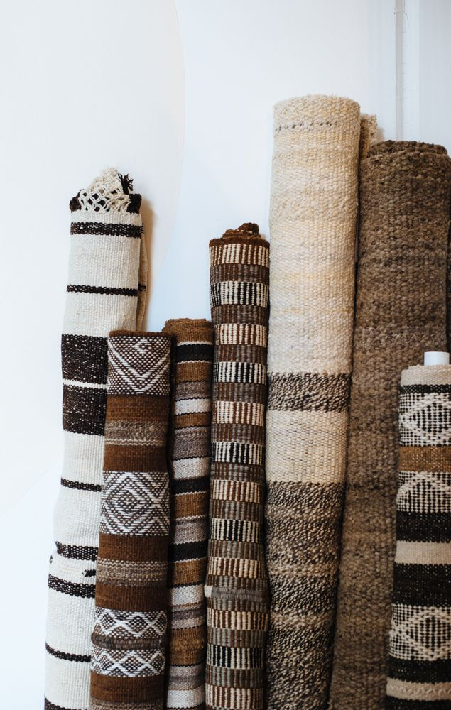 Earthy rugs by Pampa
