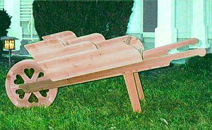 Easy plans for making a wheel barrow planter
