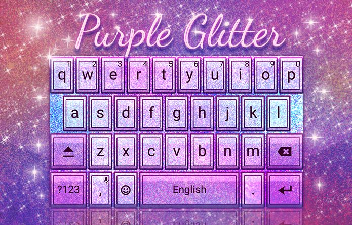Purple Glitter Theme: Purple now comes with glitter. What can be better for your Android keyboard than this theme? #android #theme #design #wallpaper #keyboard #technology #gadgets #design #redrawkeyboard #purple #glitter #fancy