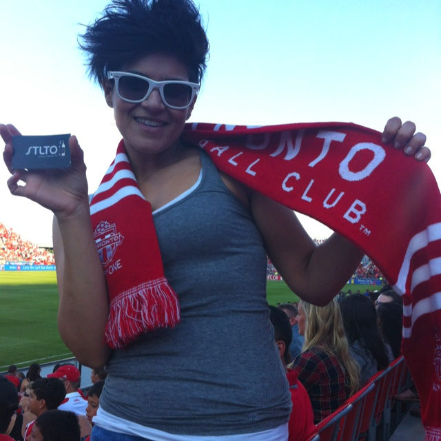 STLTO Fan at the TFC Game. Cheers! #Toronto
