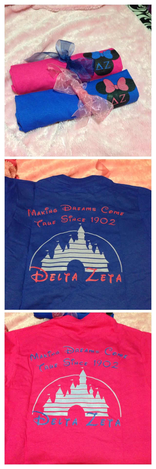 Delta Zeta sorority Walt Disney World shirts
