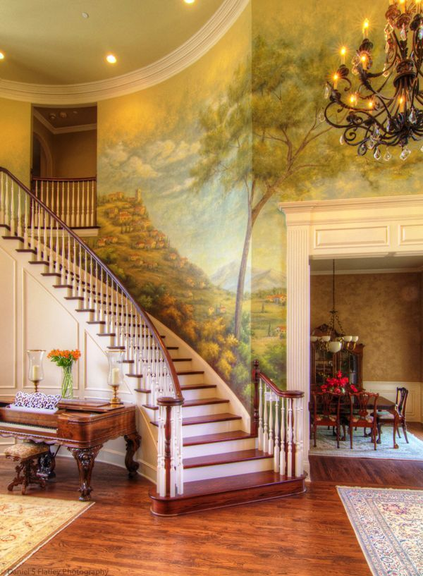 14 best ideas about wall murals on pinterest villas for Mural room white house
