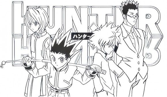 Hunter X Hunter Coloring Page Hunter X Hunter Coloring Pages Madhouse Anime