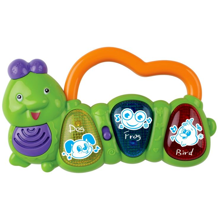 This happy little BABYGRO Musical Worm will go anywhere baby goes! Entertain your baby anywhere with light-up effects and fun sounds. Features an easy-to-grasp handle that baby will love. Start inspiring your little musician today.  #Babygro #Baby #Toy #Music #Fun #Worm http://www.game.co.za/babygro-musical-worm-with-lights.html