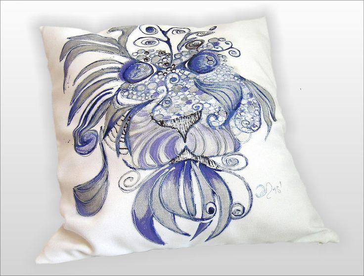 ZAKRĘCONY LEW grafika ręcznie malowany 45x45 w W.pelni Design na DaWanda.com