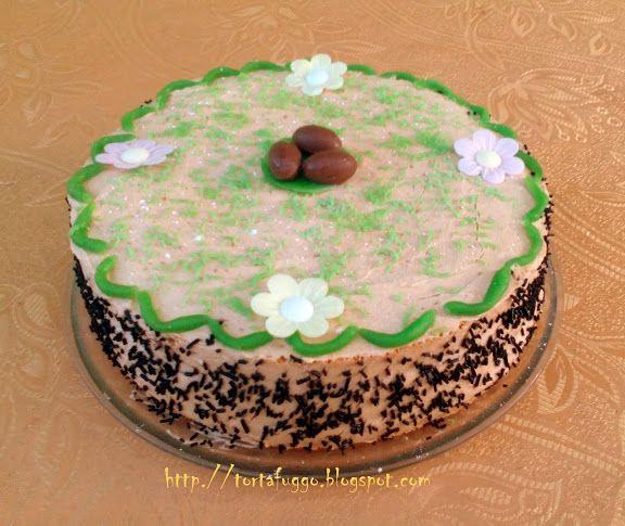 Tortafüggő Marisz: Karamellkrémes húsvéti torta