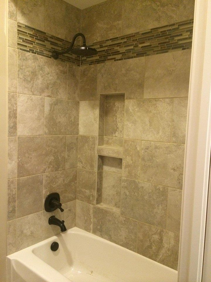 Very nice tile shower and tub surround by bob pete 39 s for Tile shower surround
