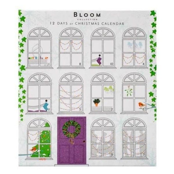Superdrug Bloom 12 Days of Christmas Perfume Advent Calendar ($16) ❤ liked on Polyvore featuring home, home decor, holiday decorations, christmas holiday decorations, christmas advent calendar, xmas advent calendar, christmas home decor and flower home decor