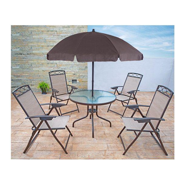 19 migliori immagini tavolo giardino rattan garden for Comedor de jardin con sombrilla