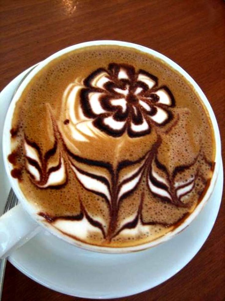 倫☜♥☞倫   .Coffee ♥ Art.·:*¨¨*:·. Flower latte art  ....♡♥♡♥♡♥Love★it