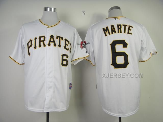 http://www.xjersey.com/pirates-6-marte-white-jerseys.html PIRATES 6 MARTE WHITE JERSEYS Only $34.00 , Free Shipping!