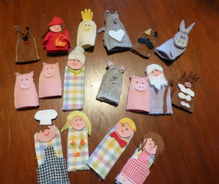Marionette per dita in panno lenci