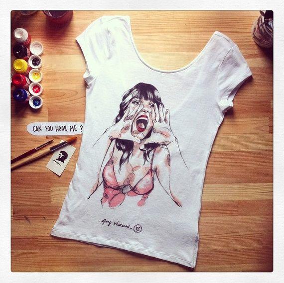 Magliette dipinte interamente a mano. L'arte che di angelavarani, €60.00
