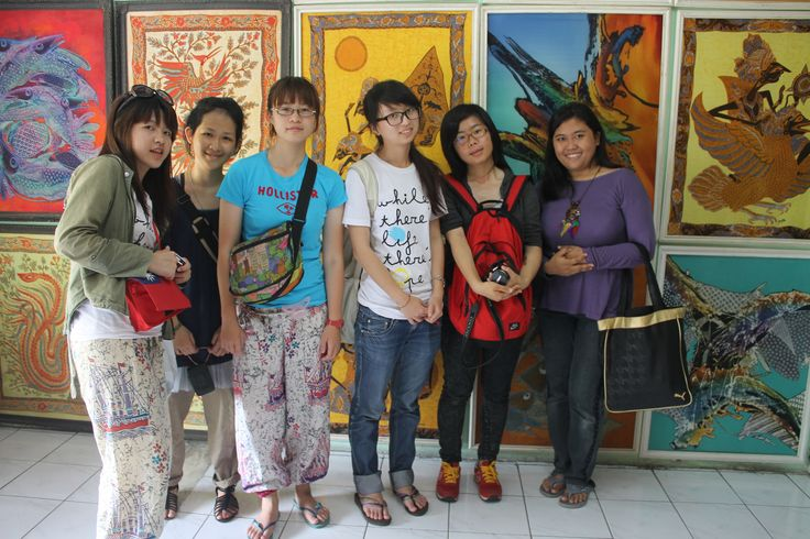 With Taiwanese friends in Jogja artwork