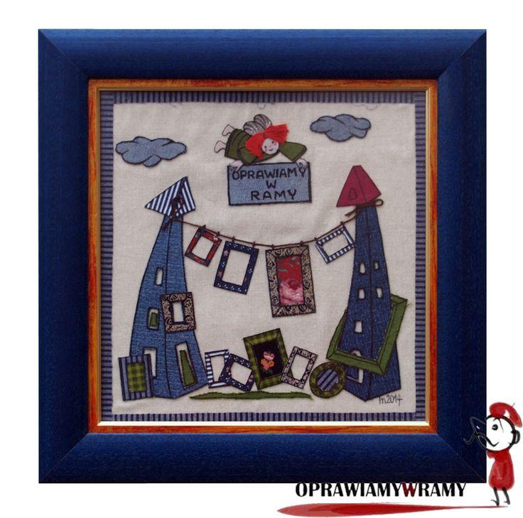 Handmade: kolaż z kolorowych materiałów.  #oprawiamywramy #handmade #diy