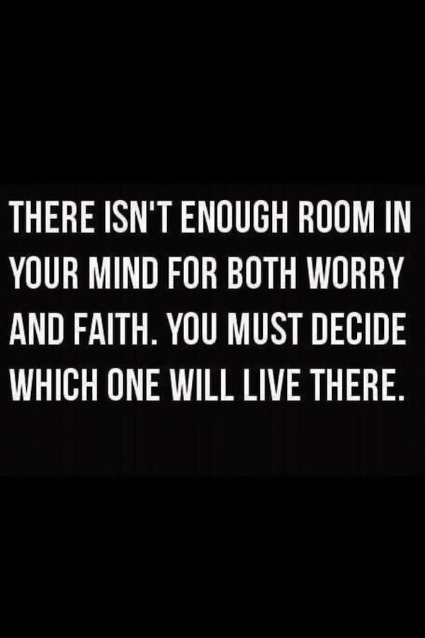 worry versus faith.